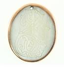 Makabibi oval pendant w/ sea horse etch