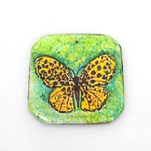 paper print wood pendant irregular butterfly