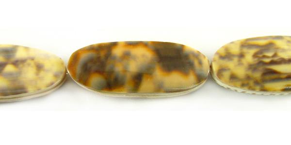 Golden olive shell flat tube