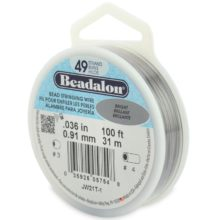 "wholesale 49 strand bright beadalon wire .036""thick"