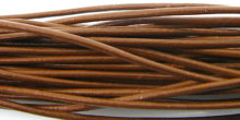 wholesale Light Brown Round Leather Cord 1.5mm, 50