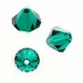 Swarovski 5301 Beads Bicone Emerald