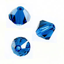 Swarovski 5301 Beads Bicone Capri Blue