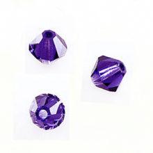 Swarovski 5301 Beads Bicone Purple Velvet