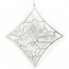 silver shine metal diamond 65mm wholesale pendants
