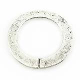 Silver metal O ring 30mm plain wholesale
