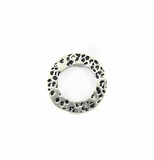 Silver metal O ring 18mm hammered wholesale