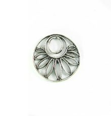 silver metal round 20mm flower wholesale