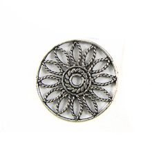 silver metal round flower 25mm wholesale