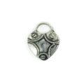 heart lock silver finish wholesale
