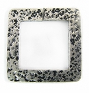 silver metal square 46mm hammered wholesale