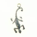Gecko charm silver finish wholesale