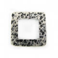 silver metal square 32mm hammered wholesale