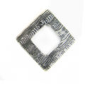 silver metal diamond 34mm corrugated wholesale
