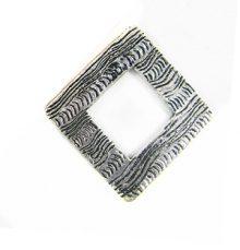 silver metal diamond 34mm corrugated wholesale