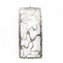 silver metal designed rectangle 55mm wholesale