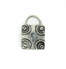 square lock silver finish wholesale