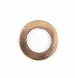 Copper finish metals O ring 25mm plain wholesale