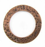 Copper finish metal round 35mm hammered wholesale