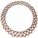 copper finish metal O ring 50mm woven wholesale