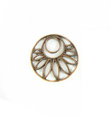 copper finish metal round 20mm flower wholesale