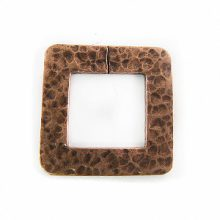 copper finish metal square 32mm hammered wholesale