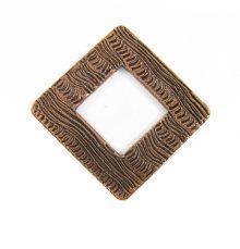 copper finish metal diamond 34mm wholesale