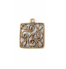 copper finish metal designed square 21mm wholesale