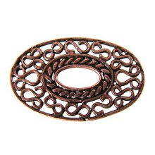 copper finish oval 32x20mm center hole wholesale