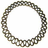brass finish metal O ring 50mm woven wholesale