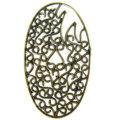 brass finish designer oval 43x24 wholesale