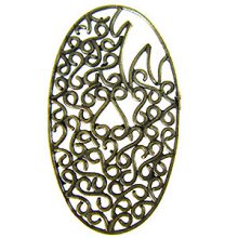 brass finish designer oval 43x24 wholesale