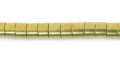 Brass heishi 4mm x 3mm thick wholesale beads