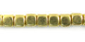 LS-5x5mm dice brass wholesale beads
