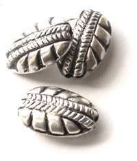 metal beads silver finish wholesale