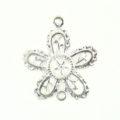 5-petal flower silver finish wholesale