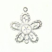 5-petal flower silver finish wholesale