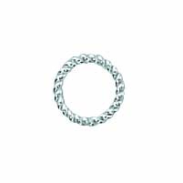 Sterling Silver Twisted Round Jump Rings