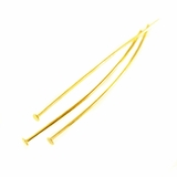wholesale Base Metal head pin .71x38mm yellow