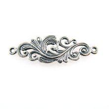 sterling silver Sterling Silver Flower-Design Link