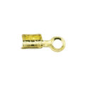 Gold Plated Fold Over Cord Ends - Small wholesale