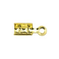 wholesale Fold Over Cord End Med.GP 3x8mm