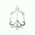 Chandelier earring silver finish wholesale