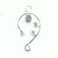 Chandelier earring silver finish wholesale