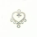 Chandelier earring component silver finish wholesale