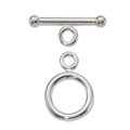 Silver Filled Toggle Clasp 12mm round wholesale