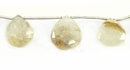 Quartz-gold rulite Flat Briolette wholesale