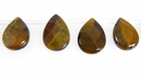 Tiger Eye faceted teardrop wholesale gemstones