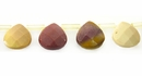 mookaite faceted briolette wholesale gemstones