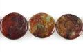 Rainbow Agate Flat Coin 30x7mm wholesale gemstones